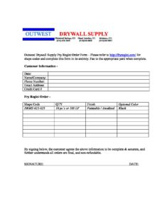 Outwest-Drywall-Supply-Fry-Reglet-Order - Outwest Drywall Supply